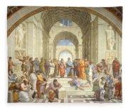 The School Of Athens, Raphael Fleece Blanket