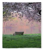The Schuykill River At Kelly Drive In The Spring Fleece Blanket