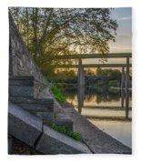 The Schuylkill Steps - East Falls - Philadelphia Fleece Blanket