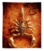 The Scorpion Scarab Fleece Blanket