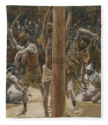 The Scourging On The Back Fleece Blanket