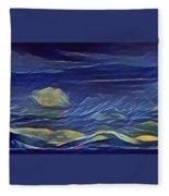 The Sea And Sky Where Thunder Sleeps Fleece Blanket