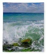 The Sea Breathes Fleece Blanket