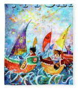 The Sea Cruise Of Tivoli Gardens Fleece Blanket