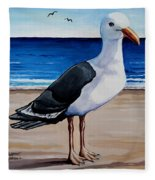 The Sea Gull Fleece Blanket