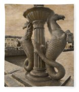 The Seahorses 3 Sepia Fleece Blanket