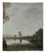 The Seine At Chatou Fleece Blanket