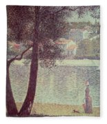 The Seine At Courbevoie Fleece Blanket