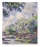 The Seine At Giverny Fleece Blanket