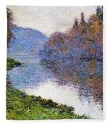 The Seine At Jenfosse Fleece Blanket