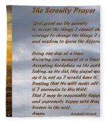 The Serenity Prayer Fleece Blanket