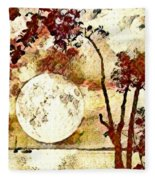 The Setting Moon Fleece Blanket