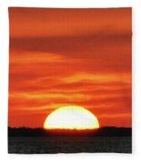 The Setting Sun Fleece Blanket