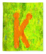 The Sexy K  - Orange -  - Pa Fleece Blanket