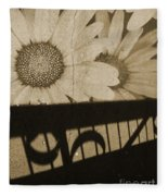 The Shadow Flowers Fleece Blanket