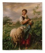 The Shepherdess Fleece Blanket