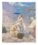 The Shepherd's Song, 1891 Fleece Blanket