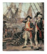 The Ship That Sank The Victory Fleece Blanket