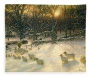 The Shortening Winters Day Is Near A Close Fleece Blanket
