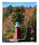 The Shoul Point Lighthouse Fleece Blanket