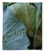 The Shy Cabbage The Keg Room Old English Hunter Green Fleece Blanket
