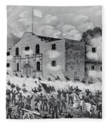 The Siege Of The Alamo Fleece Blanket