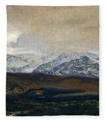 The Sierra De Guadarrama Fleece Blanket