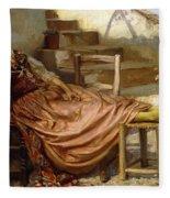 The Siesta, 1909 Fleece Blanket