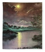 The Silence Of A Falling Star Fleece Blanket