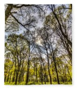 The Silent Forest  Fleece Blanket