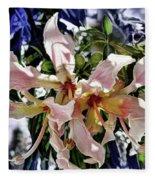 The Silk Flowers Fleece Blanket