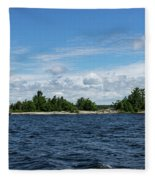 The Silver Bullet - Little Silver Boat Speeding Along Fleece Blanket