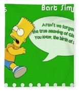 The Simpsons Fleece Blanket