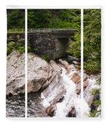 The Sinks Smoky Mountains Triptych Fleece Blanket