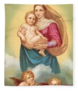 The Sistine Madonna Fleece Blanket