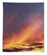 The Sky How It Moves Me Fleece Blanket