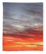 The Sky Is Smoking Hot In Widescape Fleece Blanket