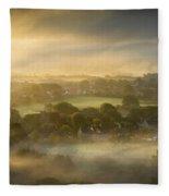 The Sky Kissed The Land Fleece Blanket