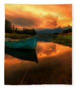 The Sky's On Fire Fleece Blanket