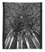 The Skyscrapers Of The Forest Fleece Blanket