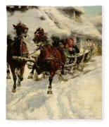 The Sleigh Ride Fleece Blanket