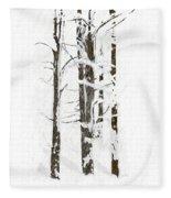 The Snow Just Won't Stop Fleece Blanket
