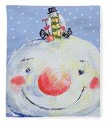 The Snowman's Head Fleece Blanket