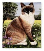 The Snowshoe Cat Fleece Blanket