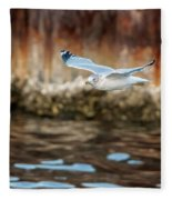 The Soaring Gull Fleece Blanket