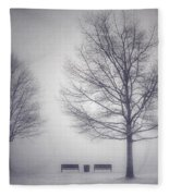 The Soft Breath Of Winter Fleece Blanket
