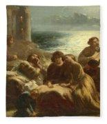 The Song Of The Troubadours Fleece Blanket