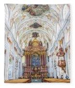 Lucerne's Jesuit Church  Fleece Blanket