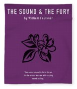 The Sound And The Fury Greatest Books Ever Series 018 Fleece Blanket