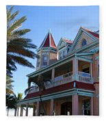 The Southernmost House In Key West Fleece Blanket